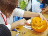 スノーピーク箕面自然館 かぼちゃランタン作り